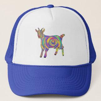 Gorra De Camionero Arte animal espiral colorido de la cabra