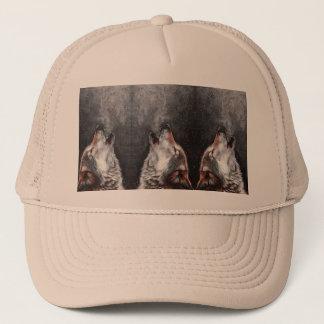 Gorra De Camionero Arte del lobo - lobo del grito - pintura del lobo