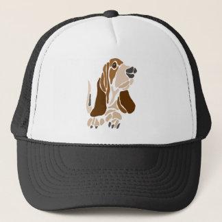 Gorra De Camionero Arte divertido del perro de Basset Hound