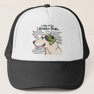 Gorra De Camionero Atlas amarillo del cerebro de Labrador