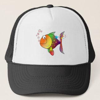 Gorra De Camionero Atún del Océano Pacífico del multicolor del arco