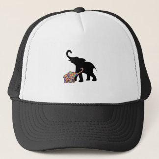 Gorra De Camionero Ayuda de la conciencia del autismo del elefante