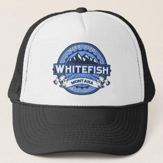 Gorra De Camionero Azul del pescado blanco