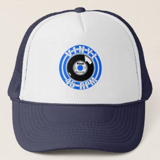 Gorra De Camionero Azul del vinilo 45