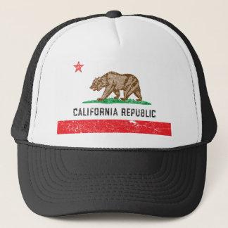 Gorra De Camionero Bandera de California del vintage