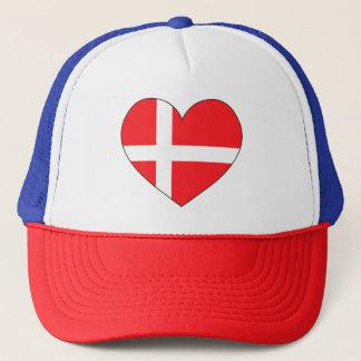 Gorra De Camionero Bandera de Dinamarca simple