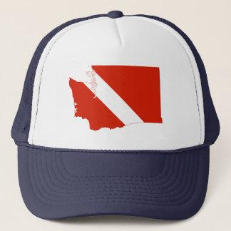 Gorra De Camionero Bandera de la zambullida del estado de Washington