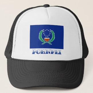 Gorra De Camionero Bandera de Pohnpei, con nombre