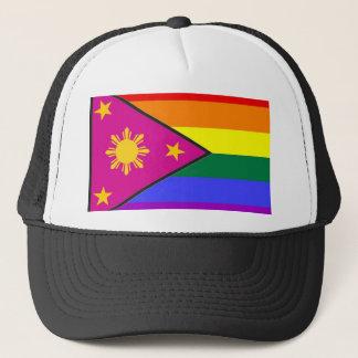 Gorra De Camionero Bandera filipina del orgullo de GLBT