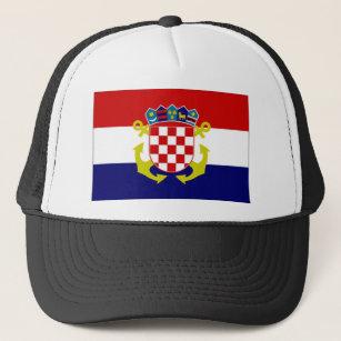Gorra De Camionero Bandera naval de la bandera de Croacia c45457eed6f
