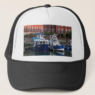 Gorra De Camionero Barcos de pesca, Portsmouth, Inglaterra