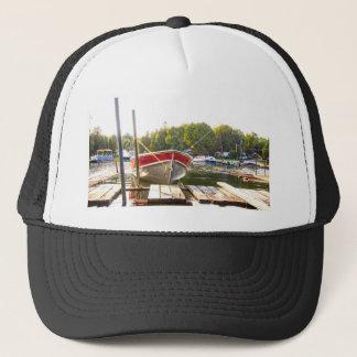Gorra De Camionero Barcos en el puerto