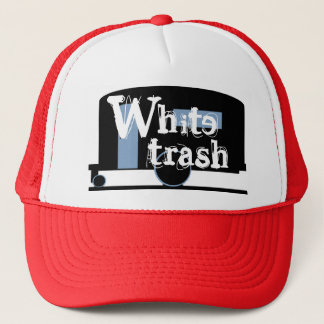 Gorra De Camionero Basura blanca de consumición del casquillo del