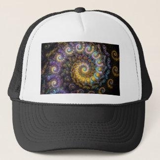 Gorra De Camionero Belleza del fractal del nautilus