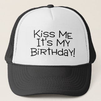 Gorra De Camionero Béseme su mi cumpleaños