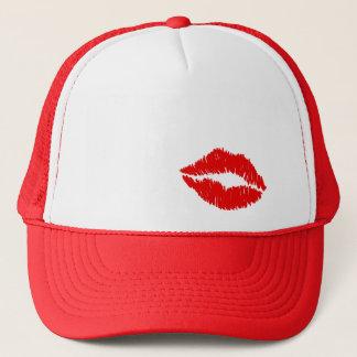 Gorra De Camionero Beso rojo de los labios