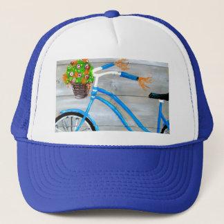 Gorra De Camionero Bici azul Zazzle