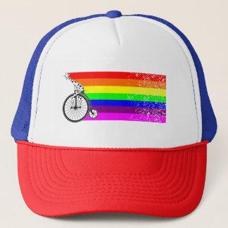 Gorra De Camionero Bici del arco iris de la jirafa