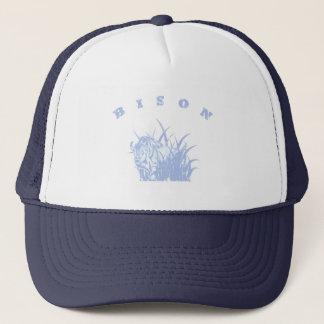 Gorra De Camionero BISONTE - gráfico americano del azul de Lite del
