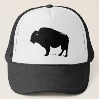 Gorra De Camionero Bisonte negro y blanco del búfalo del arte pop