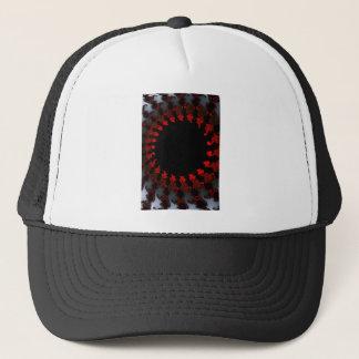 Gorra De Camionero Blanco negro rojo del fractal