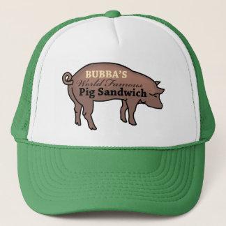 Gorra De Camionero Bocadillo famoso del cerdo de Bubba