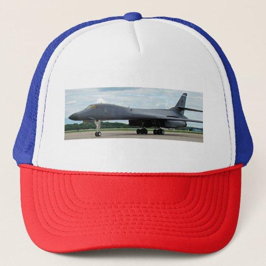 Gorra De Camionero Bombardero del lancero de B-1B en la tierra