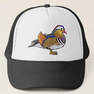 Gorra De Camionero Bosquejo del pato de mandarín
