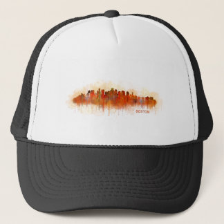 Gorra De Camionero Boston City Massachusetts skyline v3