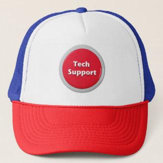 Gorra De Camionero Botón de pánico rojo del soporte técnico