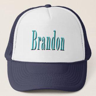 Gorra De Camionero Brandon, logotipo azul del nombre,