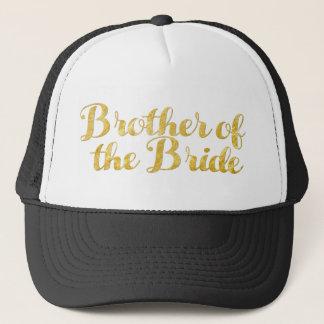 Gorra De Camionero Brother del oro de la novia