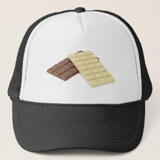 Gorra De Camionero Brown y barras de chocolate blancas