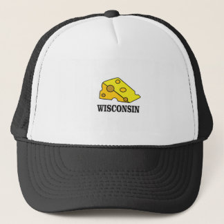 Gorra De Camionero Cabeza del queso de Wisconsin