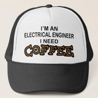Gorra De Camionero Café de la necesidad - ingeniero eléctrico
