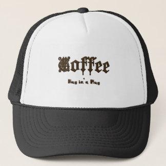 Gorra De Camionero Café - un abrazo en una taza    gótica