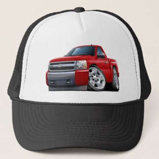 Gorra De Camionero Camión del rojo de Chevy Silverado