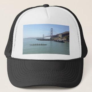 Gorra De Camionero Camisetas de puente Golden Gate con la canoa de