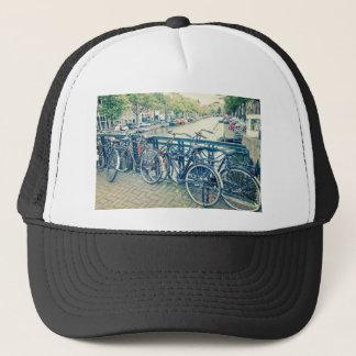 Gorra De Camionero Canal y bicicletas de Amsterdam
