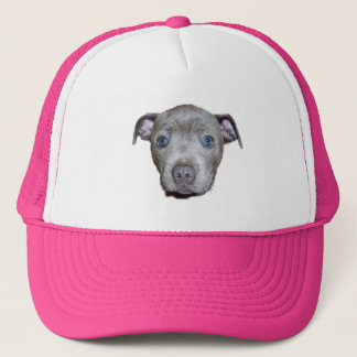 Gorra De Camionero Cara azul del perrito de Staffordshire bull