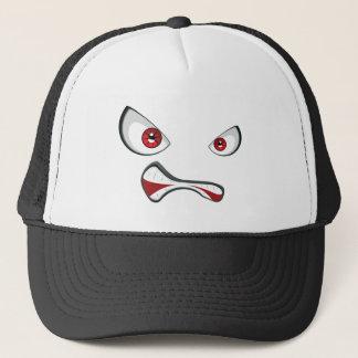Gorra De Camionero Cara malvada con los ojos 2 del rojo