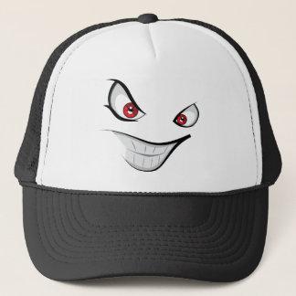 Gorra De Camionero Cara malvada con los ojos rojos
