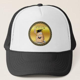 Gorra De Camionero Carácter de la patata de la graduación con un