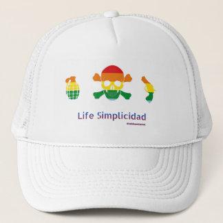 Gorra De Camionero Cártel del arco iris de Simplicidad de la vida