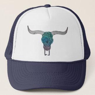 Gorra De Camionero Casquillo colorido del cráneo de la vaca