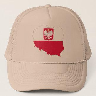 Gorra De Camionero Casquillo del mapa del escudo de Polonia