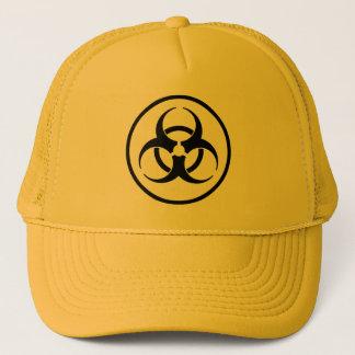 Gorra De Camionero Casquillo del símbolo del Biohazard