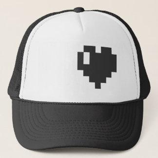 Gorra De Camionero Casquillo negro del corazón del pixel