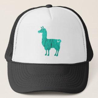 Gorra De Camionero Casquillo peludo de la llama de la turquesa