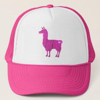 Gorra De Camionero Casquillo peludo rosado de la llama